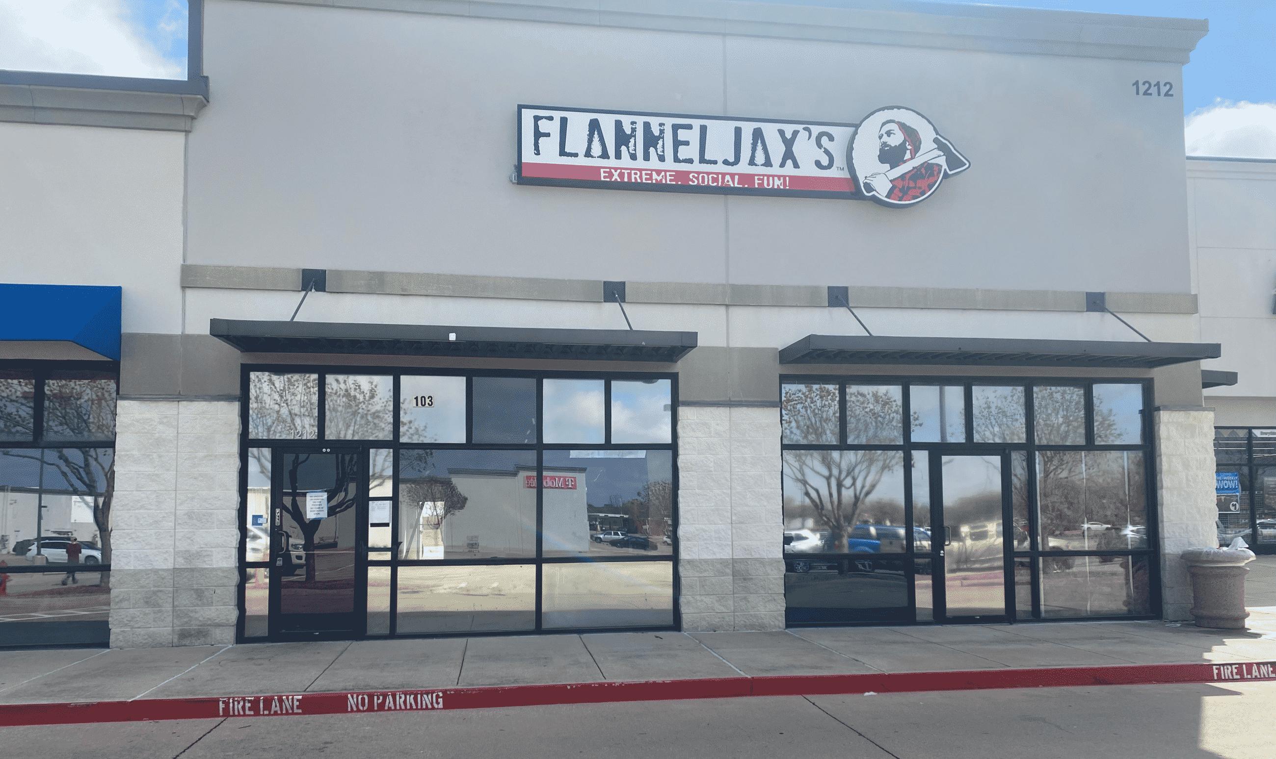 FlannelJax's Fort Worth (Roanoke) store front